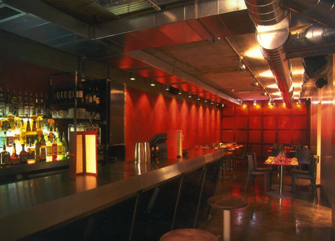 Bar Red, Soho, London, Panoramic view