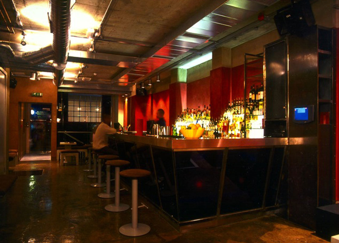 Bar Red, Soho, London, panoramic view of the bar area