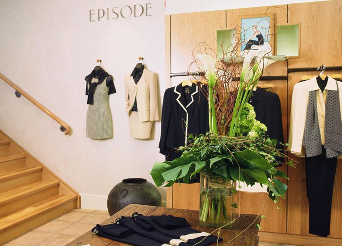 Fashion retailer Episode, interior design