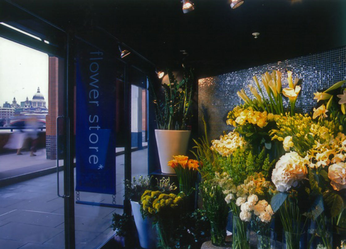 Flowerstore, Oxo Tower, London, Shop front