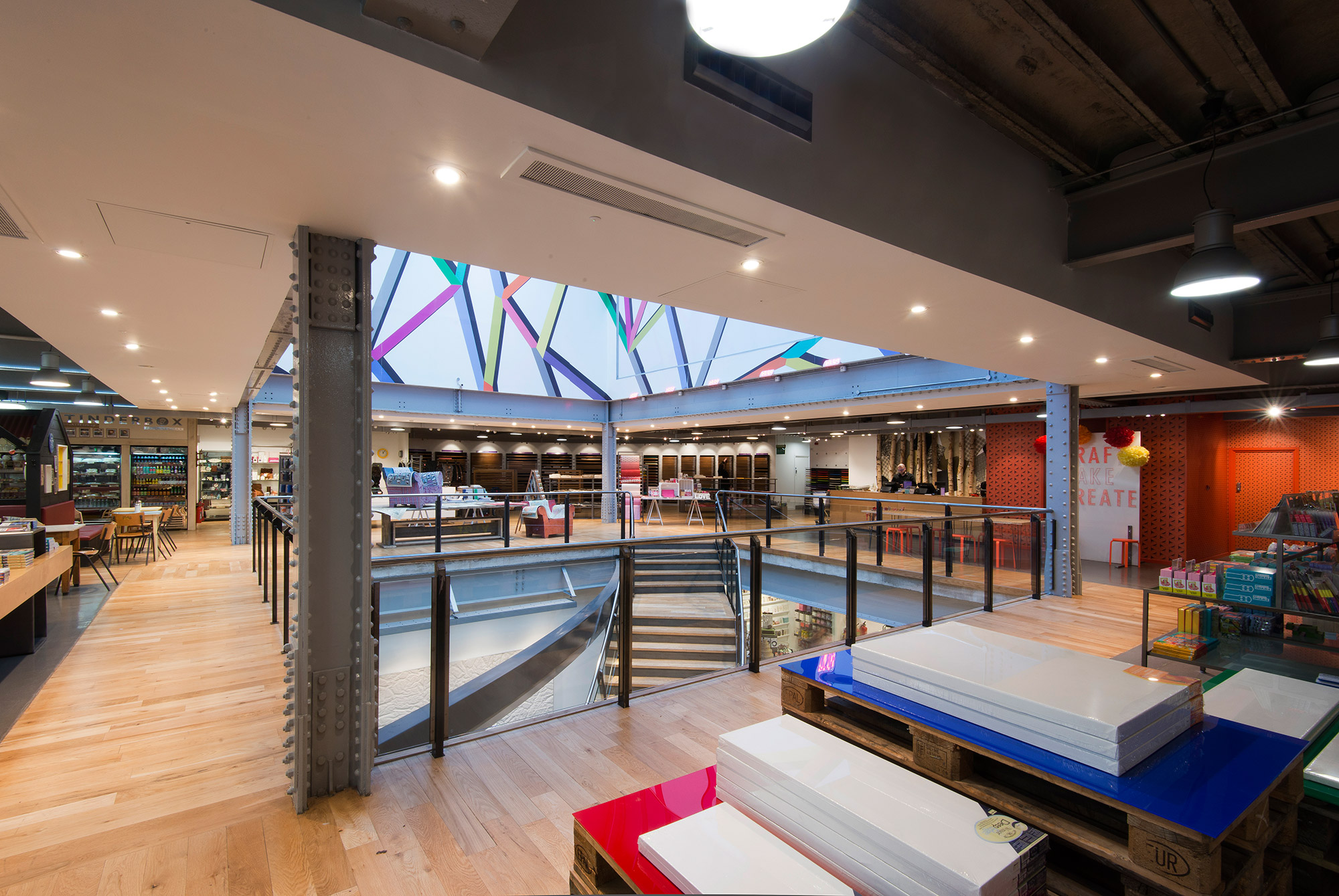 Paperchase Manchester, panoramic view of top floor