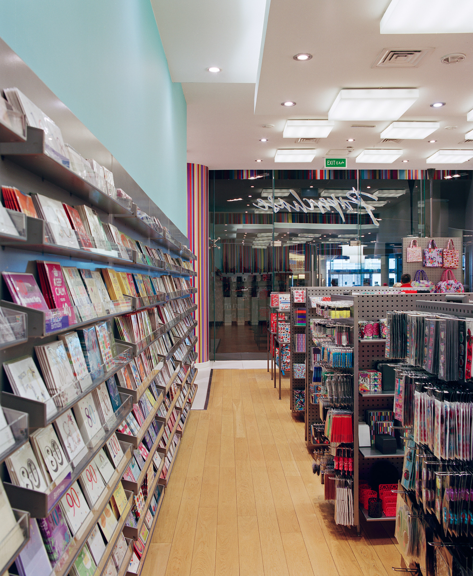 Inside Paperchase Dubai, located in the Dubai Mall