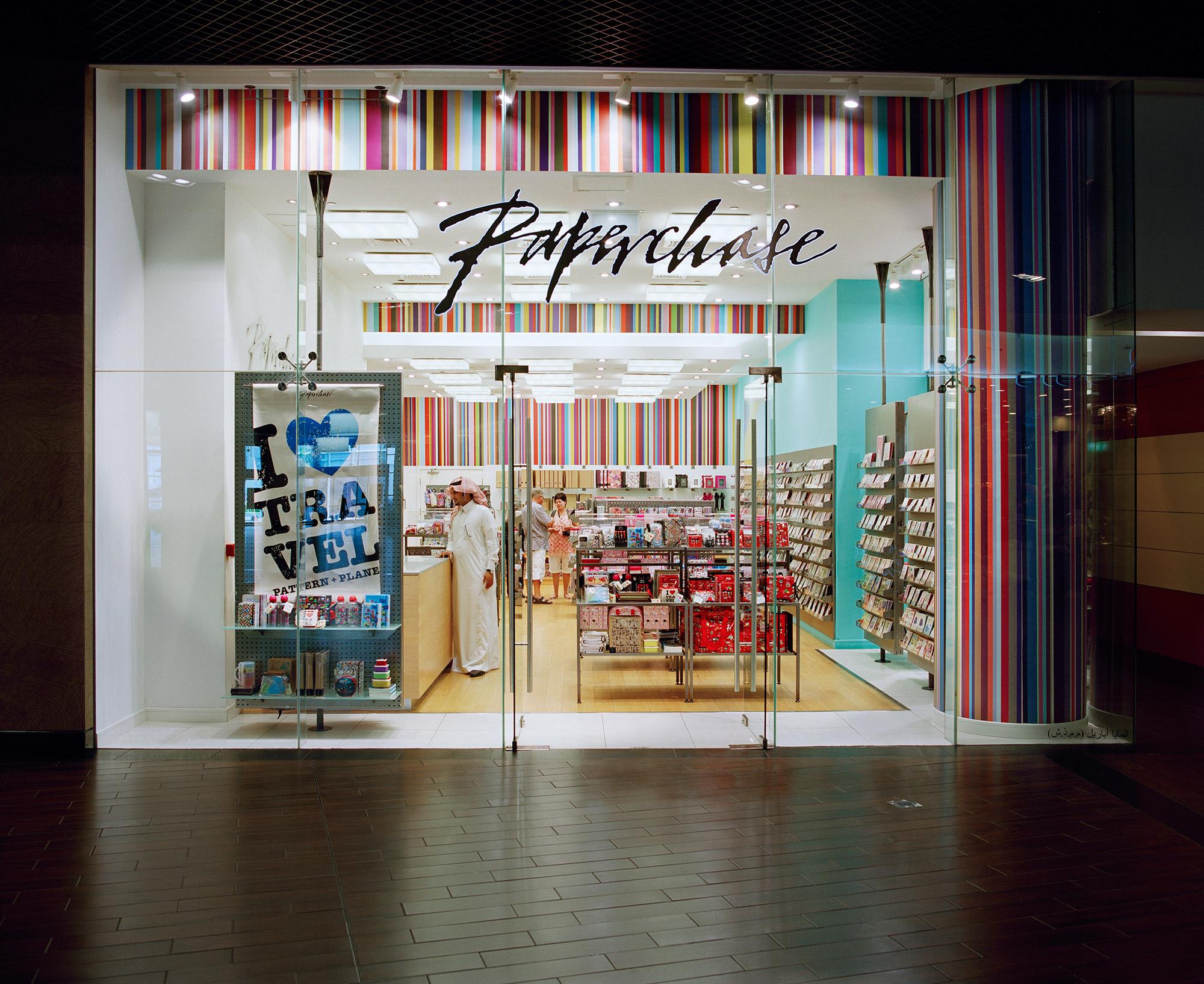 Paperchase Dubai Glass Shop Front