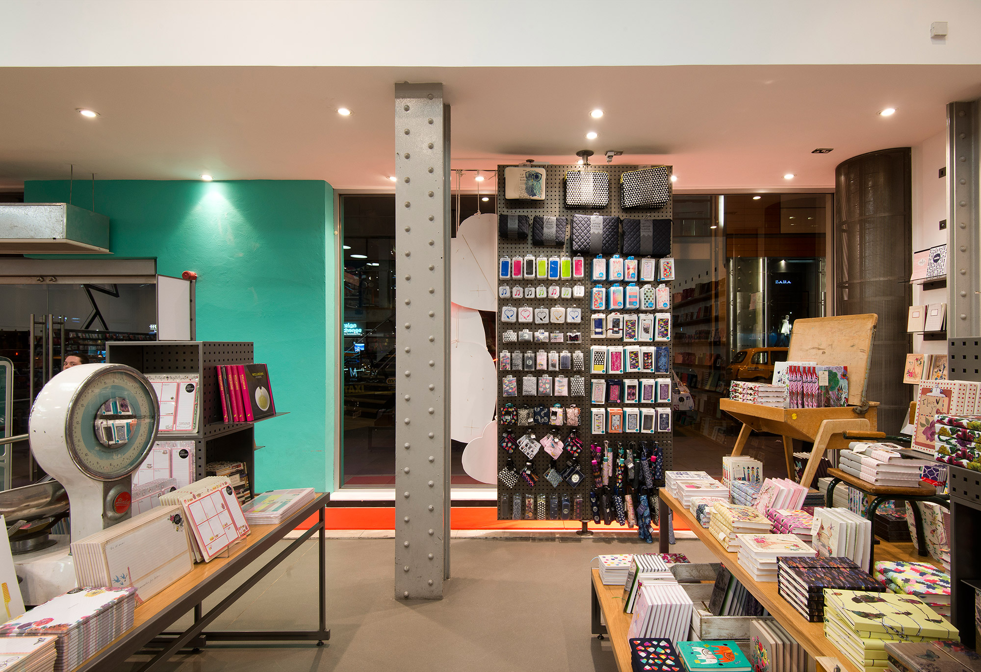 Paperchase Manchester structure detail, Paperchase products