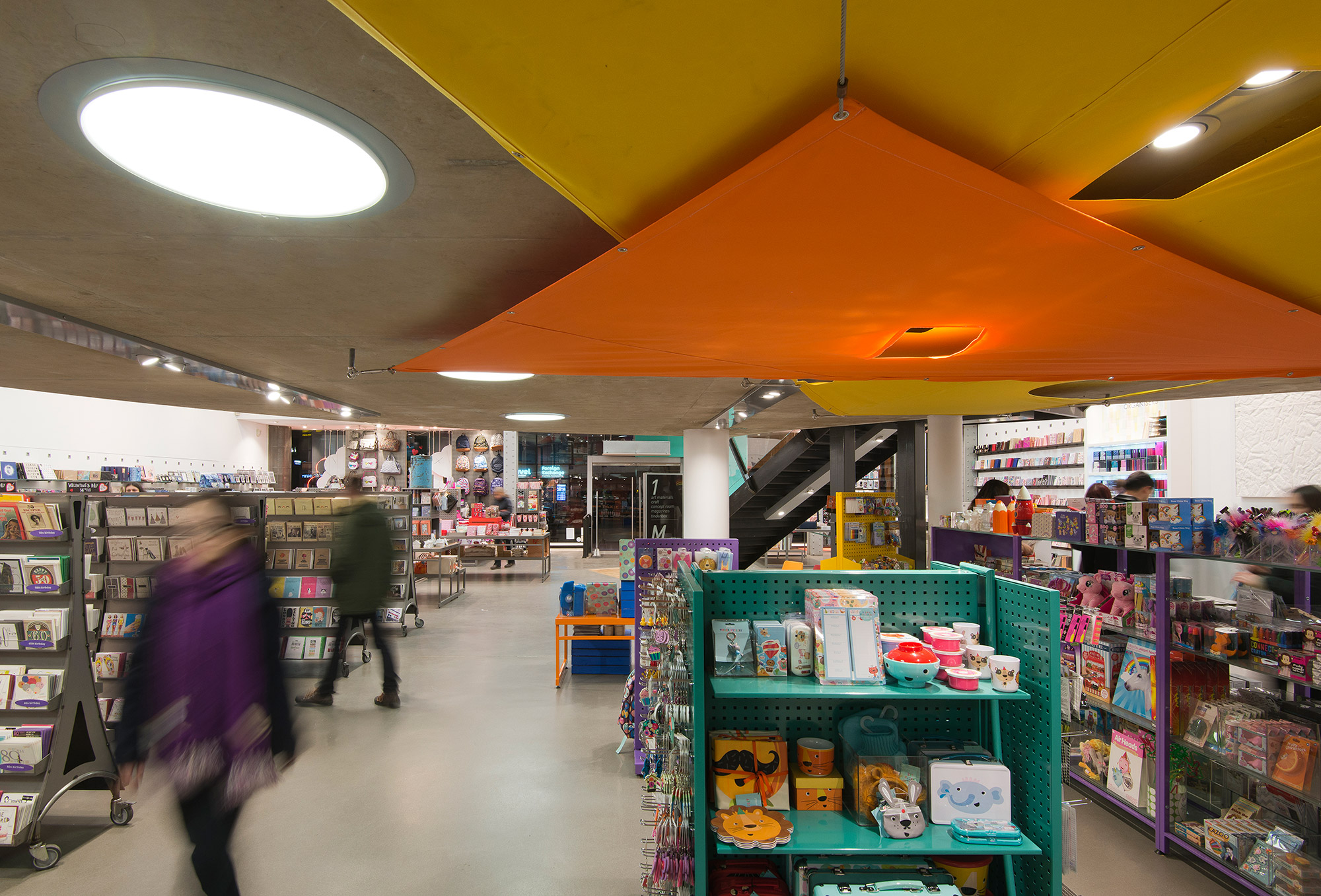 Paperchase Manchester, ground floor, ceiling detail