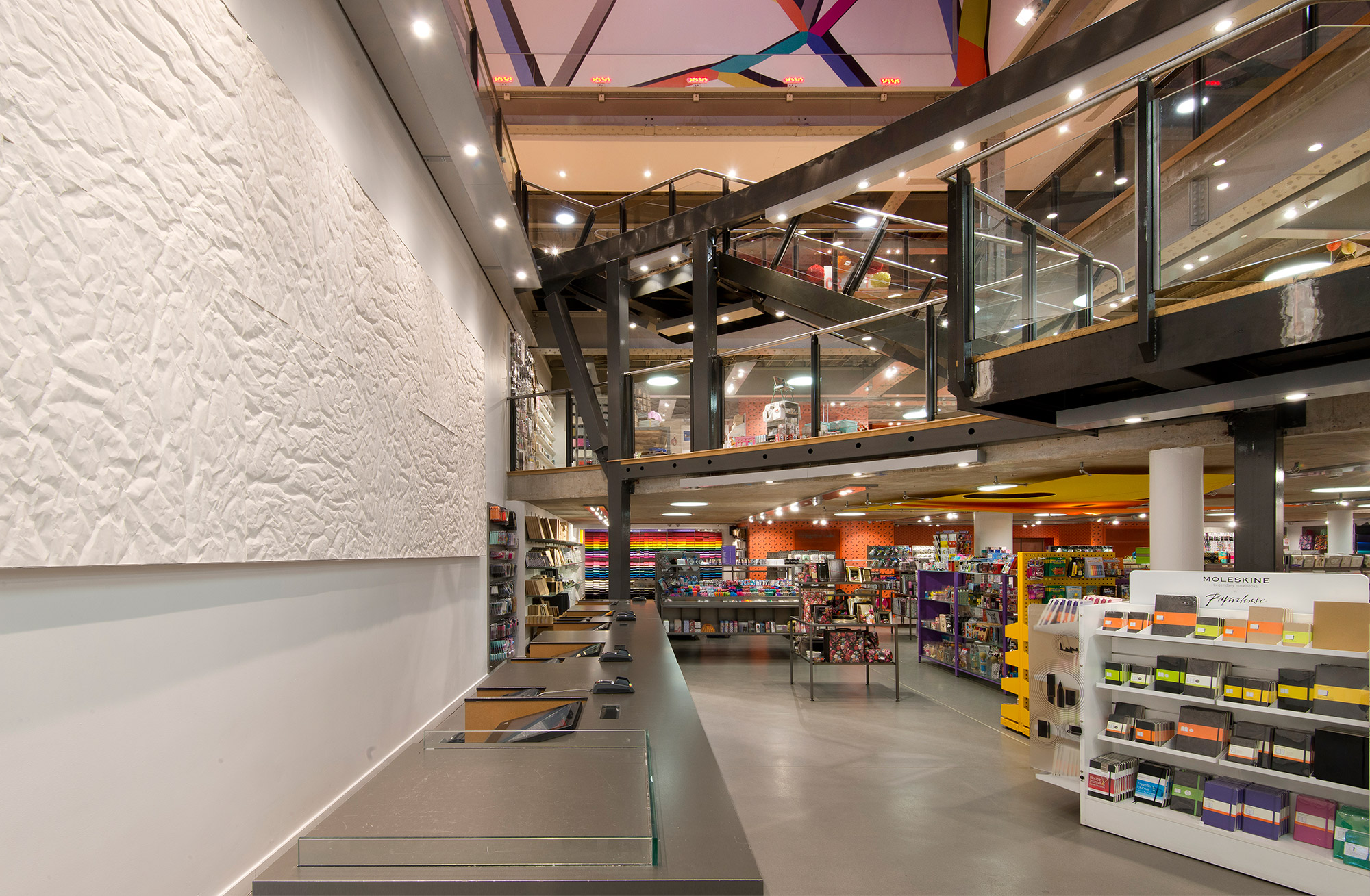 Paperchase Manchester, view across all three floors