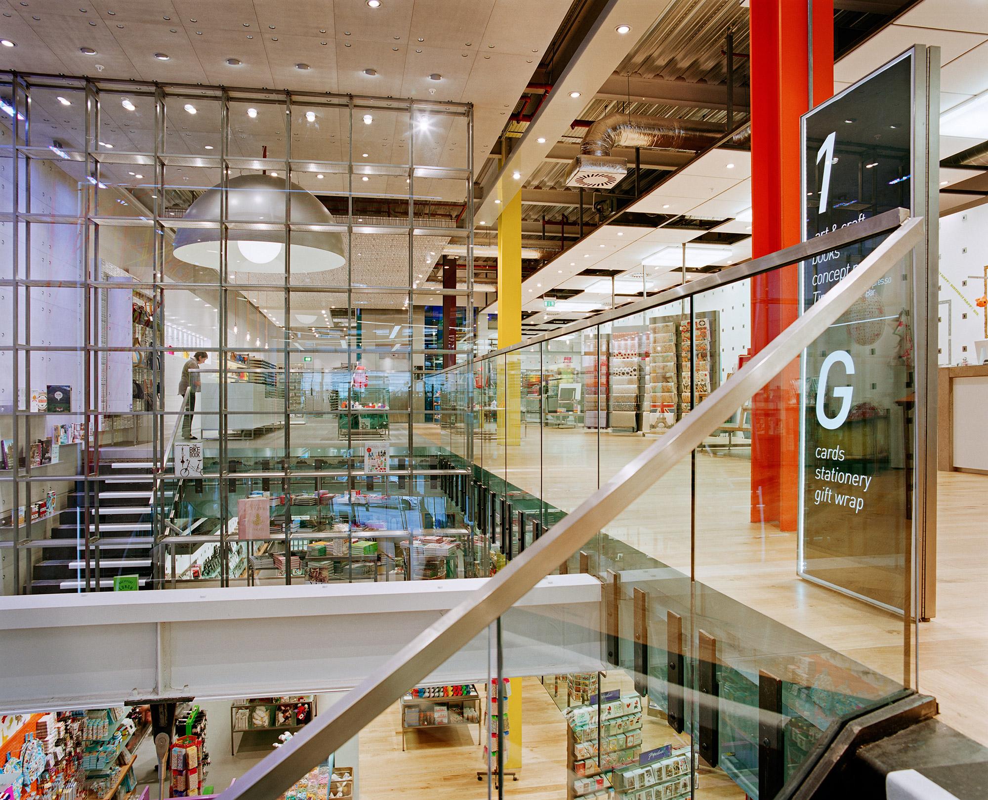 Award winning interior design, Paperchase Glasgow