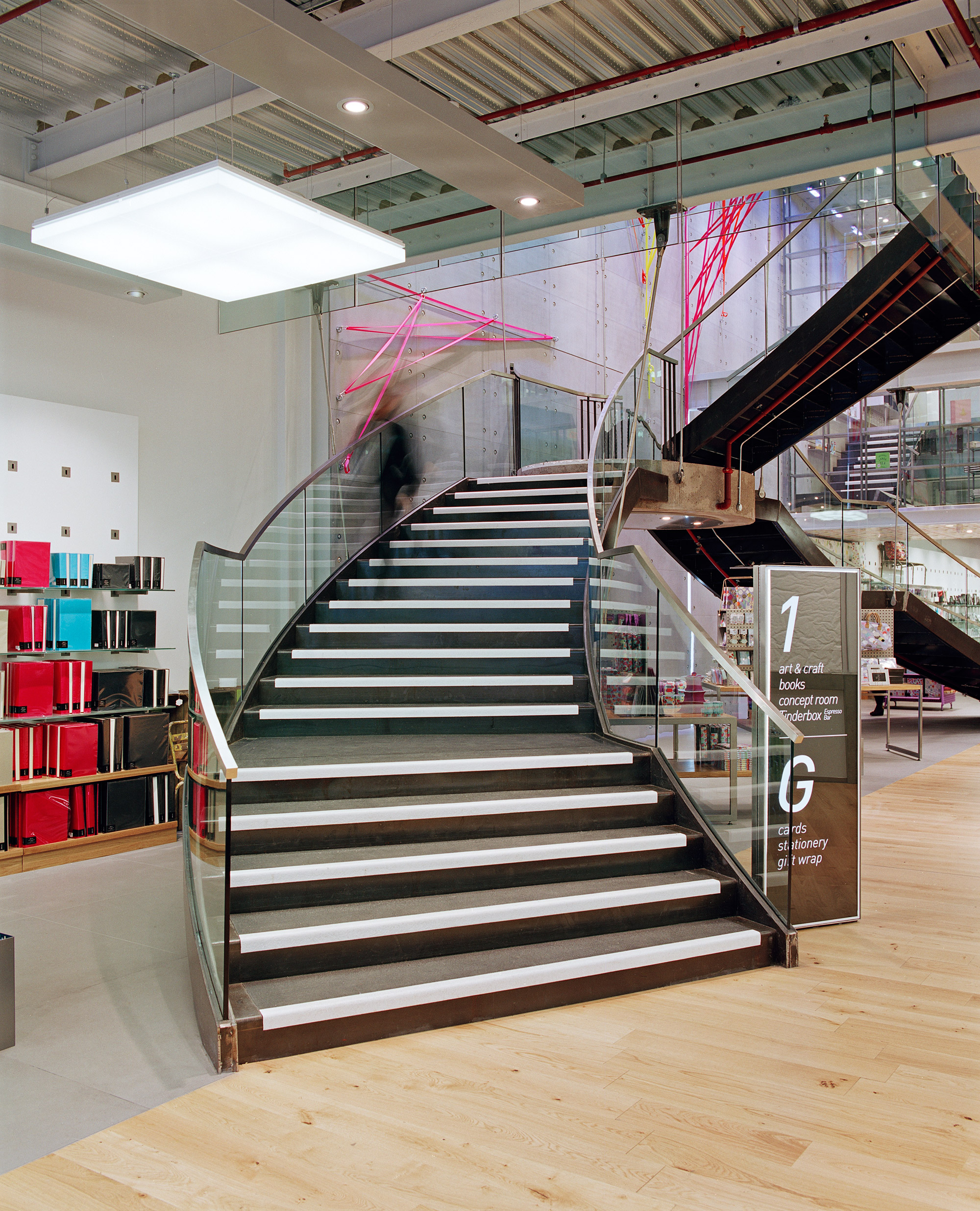 Paperchase Glasgow, curved stair