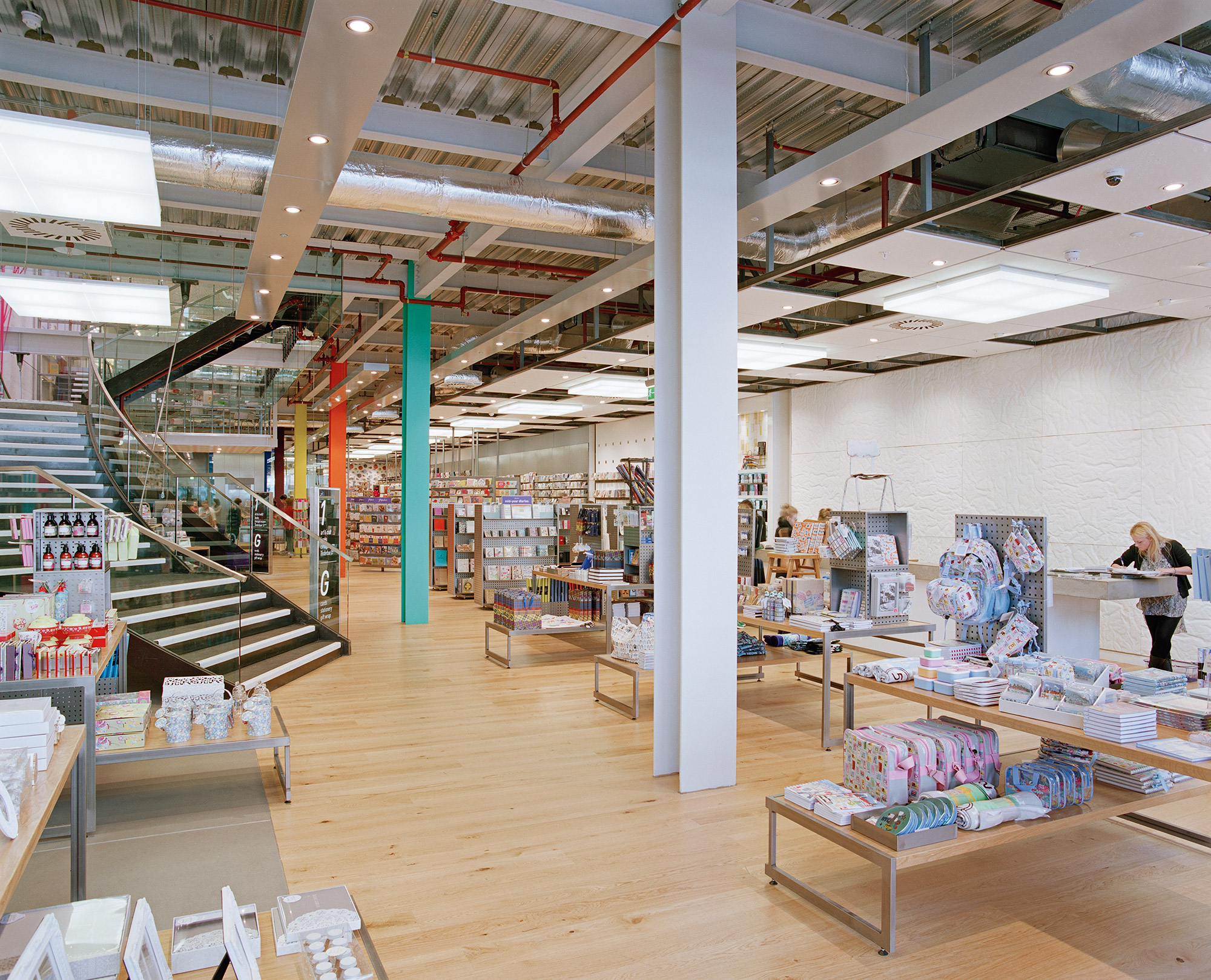 Paperchase Glasgow ground floor, interior design