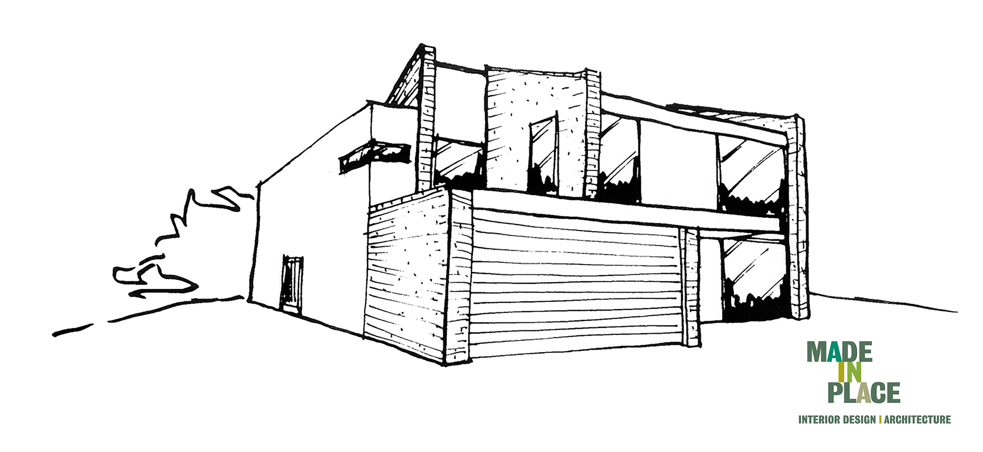 West Sussex Passivhaus garage extension front elevation