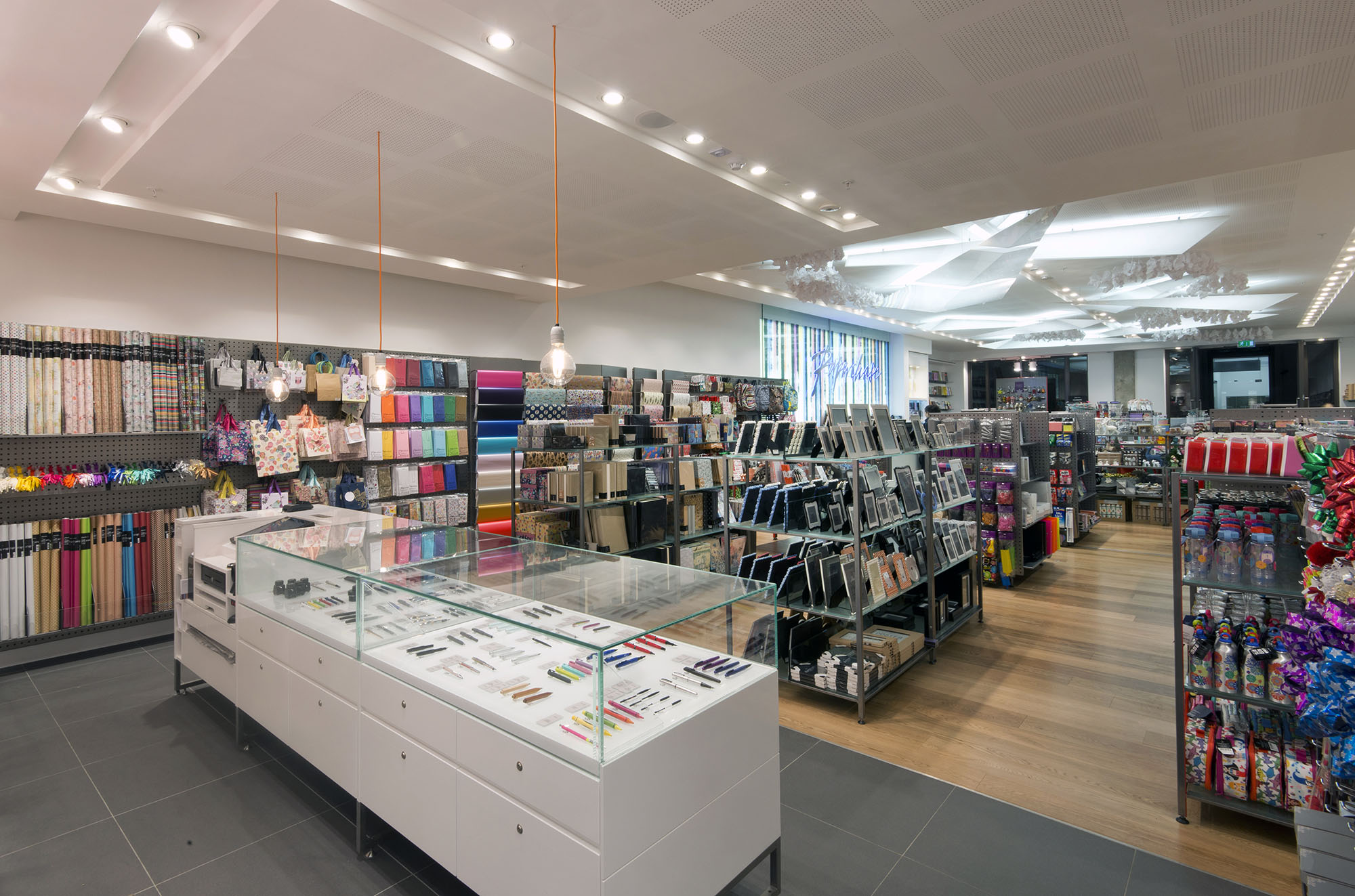 Interior image of Paperchase Bishopsgate retail store