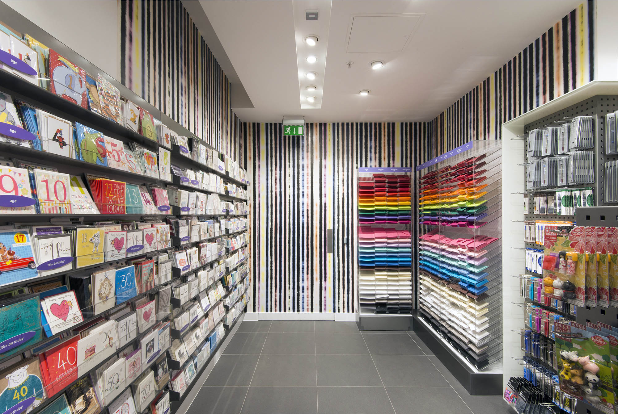 Paperchase wallpaper at Paperchase Bishopsgate