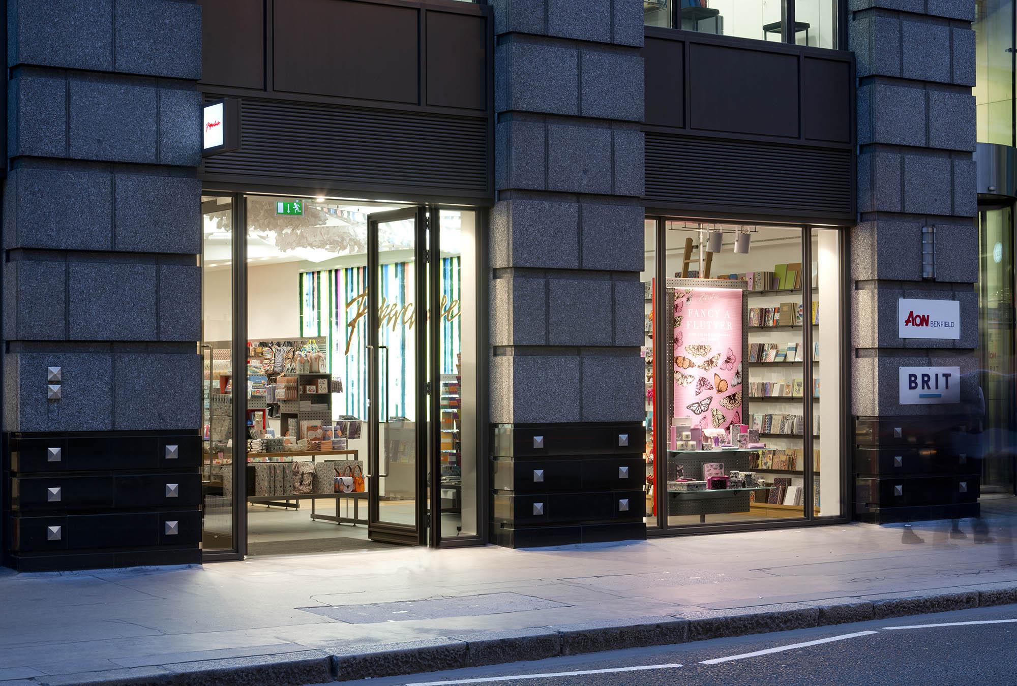 Paperchase Bishopsgate shop front