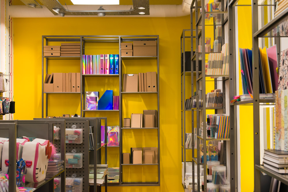Paperchase Victoria Station display units by Made In Place Design