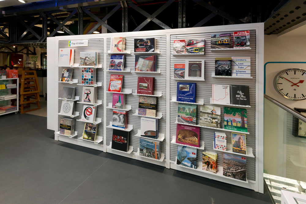 London Transport Museum shop book display by Made In Place Design