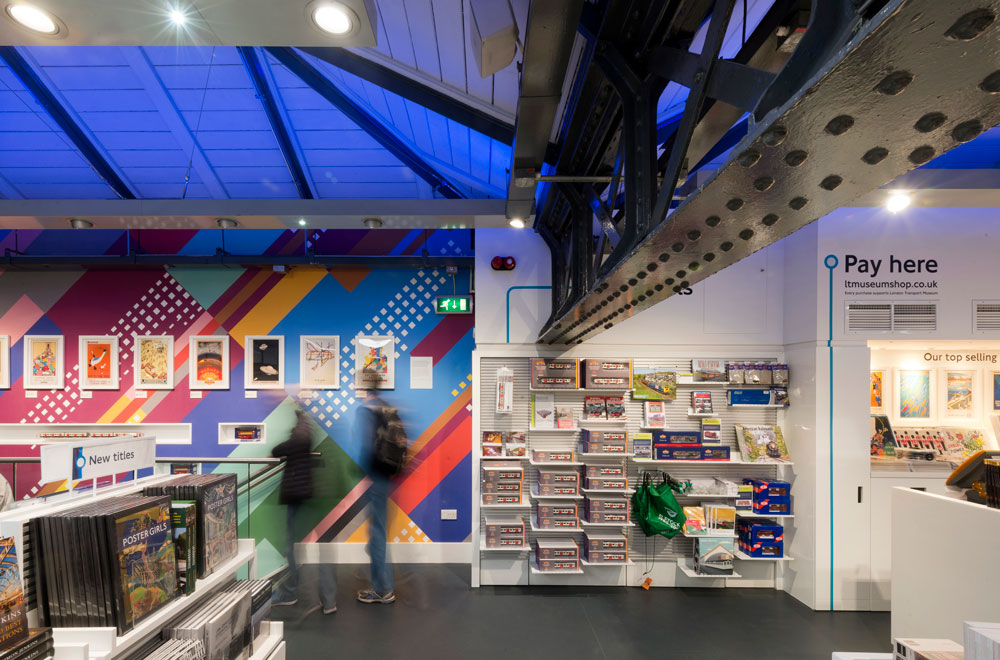 London Transport Museum shop, toy section by Made In Place Design