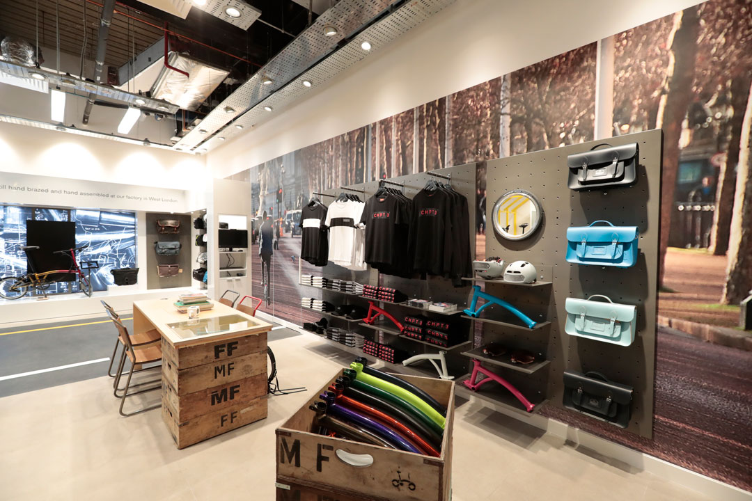 Clothing area Brompton Bikes Singapore by Made In Place Design